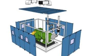 نمای سه بعدی انفجاری اتاقکهای کمپرسورها